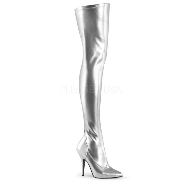 Overknee Stiefel SEDUCE-3000 PU silber
